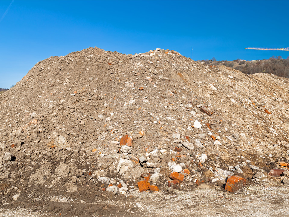 Boden und Steine